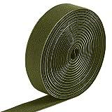 Jalan Sangle élastique de 25 mm à Forte Extensible, Artisanat Bricolage Tricot acessoires Bande élastique, 6 mètres, Armée Verte