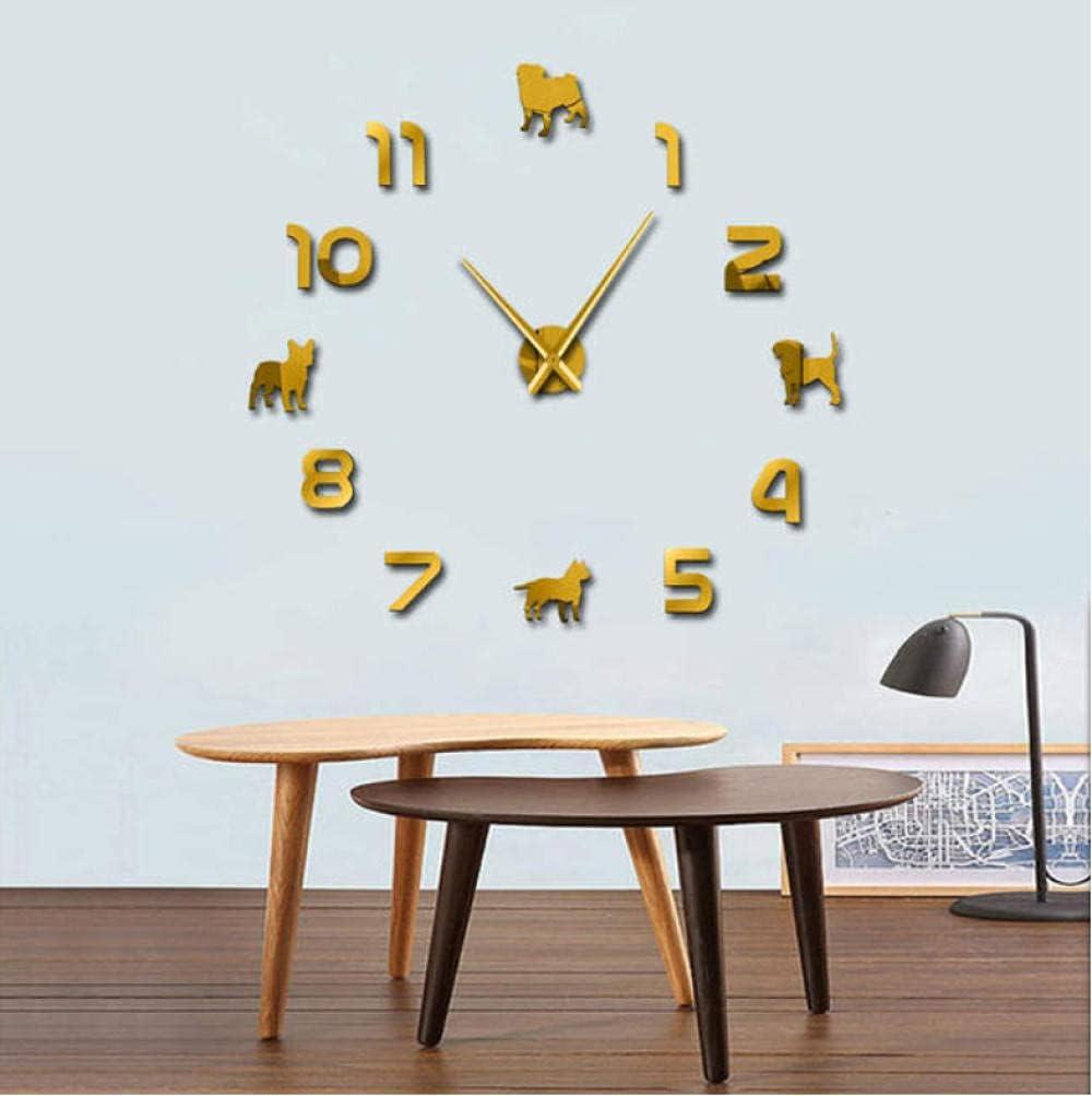 DIY Wall Clocks Puppy Dogs Bi Large Giant Tulsa Mall Popular overseas Sticker Watch