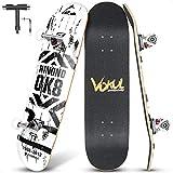 VOKUL Skateboard Komplettboard, 31.75'x7.8' Skateboards 7-lagigem Kanadischem Ahornholz und 95A...