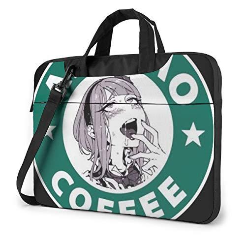 Japan Coffee Girl Unisex Laptop Bag Messenger Shoulder Bag for Computer Briefcase Carrying Sleeve