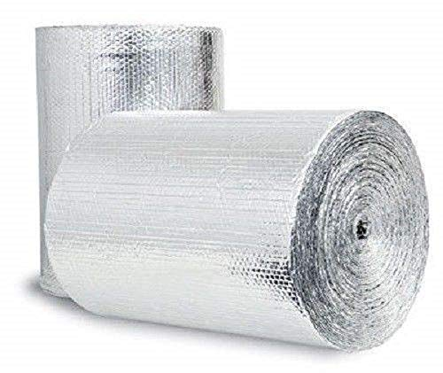 Double Bubble Reflective Foil Insulation (24 inch X 10 Ft Roll) Industrial Strength, Commercial Grade, No Tear, Radiant Barrier Wrap for Weatherproofing Attics, Windows, Garages, RV's, Ducts & More!
