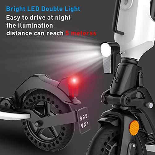 Elektroroller für Erwachsene, 7.5Ah Aluminium Abnehmbare Batterie, 350W Motor bis zu 20km/h, Faltbarer Elektroroller Tragbar & Leichtes Design, 8 Zoll Vollgummireifen E-Scooter mit Straßenzulassung - 4