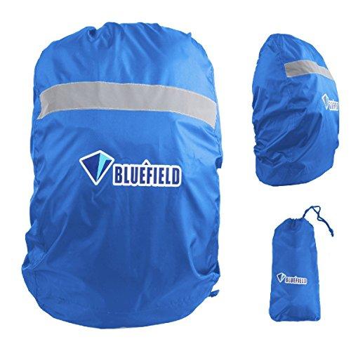 TRIWONDER Regenschutz für Rucksack, Regenhülle Rucksack, 15L-80L, Reflektoren Regenabdeckung für Camping Wandern (Blau, S (15L-35L))