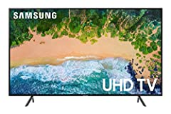 """Your purchase includes One Samsung 7 Series NU7100 43"""" - Flat 4K UHD Smart LED TV (2018), One remote TM1240A with batteries, One power cable and One User Manual TV Size without Stand: 38.2""""W x 22.2""""H x 2.3""""D. TV Size with Stand: 38.2"""" W x 25.1"""" H x 8..."""