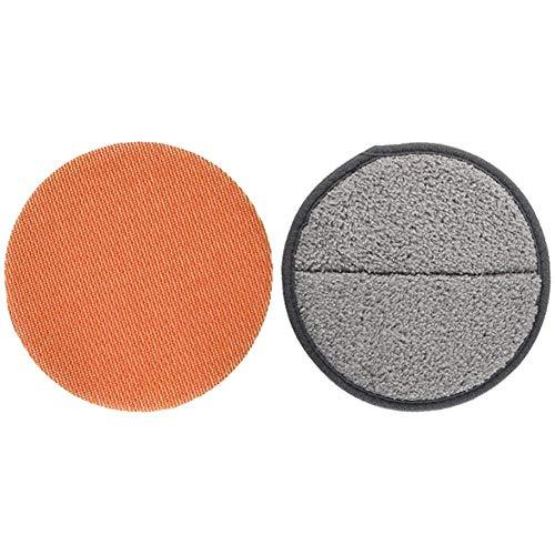 【セット買い】CCP コードレス回転モップクリーナーNEO 屋外用モップパッド 2枚入り オレンジ EX-3842-00 & コードレス回転モップクリーナー用モップパッド(ZJ-MA17/TZJ-MA817対応) 2枚入り グレー EX-3656-00