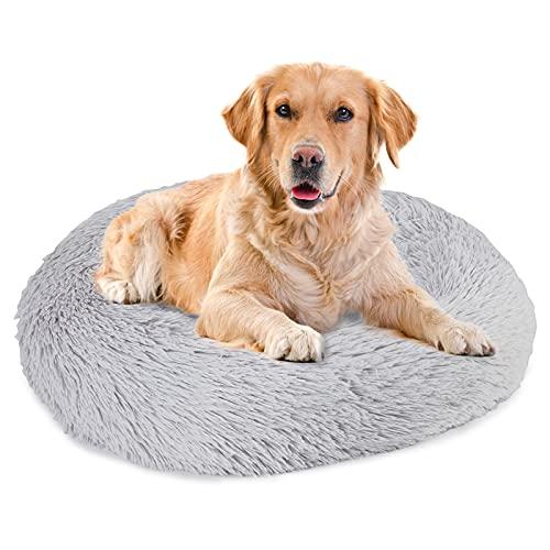 MIAE Cuccia Calmante per Cani di Piccola Taglia, Cuccia Finta con Design A Ciambella per Ridurre L'ansia, Cuscino Soffice Nido per Animali Domestici, Fondo Impermeabile Antiscivolo