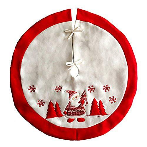 TINGOR Christmas Decorations Apron Christmas Tree Skirt, High Grade Embroidery Christmas Tree Skirts Aprons