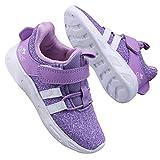 Zapatos para Niña Zapatillas Deporte Niño pequeño Transpirables Caminar Bambas para 1-4 Niño (Etiqueta 31, Morado)