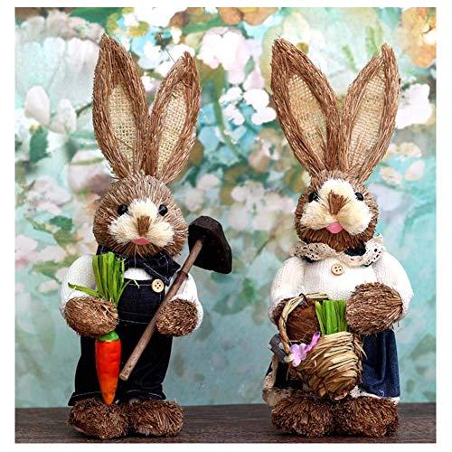 LIUSHI Conejito De Pascua, Decoracin De Interiores De Pascua Decoracin De Conejo, Artesanas De Paja, Cumpleaos, Accesorios De Fiesta