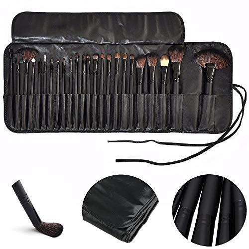 Kit de 24 Pincéis Para Maquiagem Profissional com Estojo Preto CBRN10424