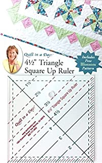 Quilt In A Day 4 1/2 Inch Triangle Square Up Ruler by