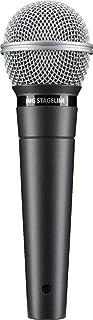 IMG STAGELINE DM-3 - Micrófono dinámico para escenario, voz y canto, con conector XLR en negro