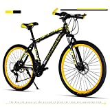 Bicicletta da 26 pollici, bicicletta compatta, 21/24/27 velocità mountain bike , telaio da 17 pollici, per uomini donne adulti gioventù, maschio studente giovanile adulto città in sella a bicicletta