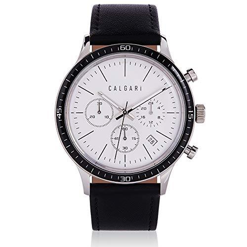 Calgari Coraggio - Reloj de pulsera para hombre con cronógrafo y mecanismo de cuarzo