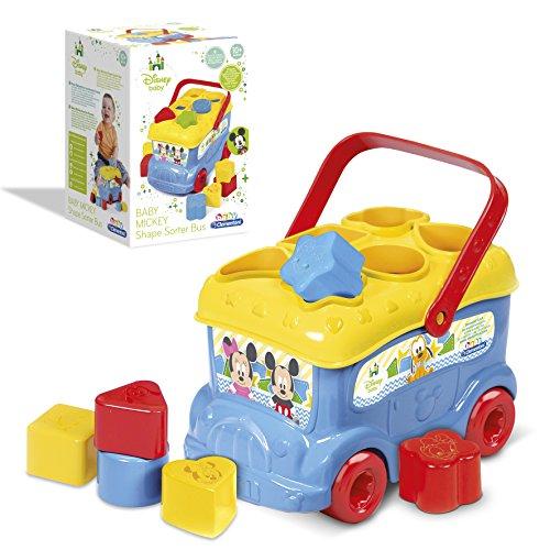 Clementoni - Topolino Bus Inserimento Gioco per Bambini Colore Multicolore, 14395