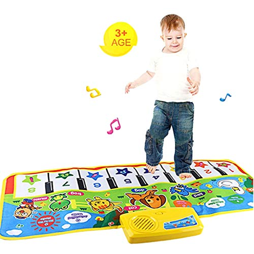 AIOJY Touch Play Keyboard Dance Mat Musical Music Singing Multifunction Family Gym Carpet Anti-Wrinkle Educational Kids Baby Best Gift Great for Indoor Games
