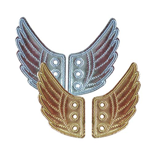 Hellery 2 Paar Mode Flügel für Schuhe, Engelsflügel Schuhflügel für Schnürschuhe, Kinderschuhe Dekoration