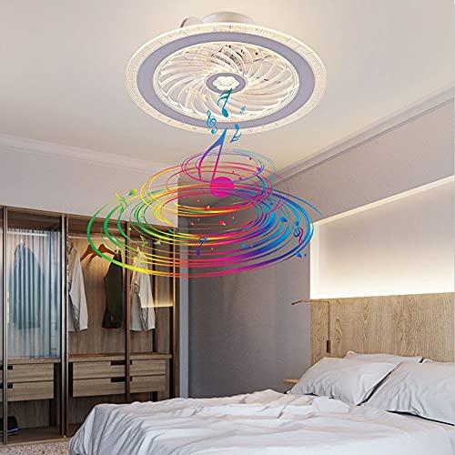 XUDAN Led Ventilador De Techo con Luz,Control Remoto Audio Bluetooth con SincronizacióN Inteligente,3 Velocidades Ajustables,Ultra Silencioso,Dormitorio Moderno,Sala De Estar, Comedor