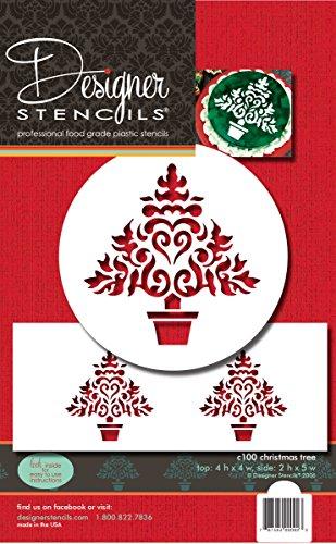 Designer Stencils C100Weihnachtsbaum-Schablone, Beige/semi-transparent