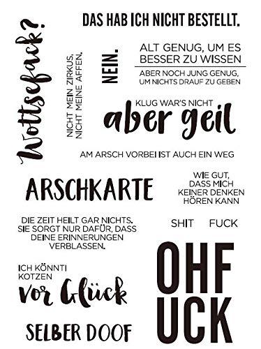 Deutscher transparenter klarer Silikonstempel/Siegel für DIY Scrapbooking/Fotoalbum Dekorative klare Stempel A1091
