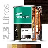 LASUR PROTECTOR MATE Protege, decora y embellece todo tipo de madera (2.3 Litros, PALISANDRO)