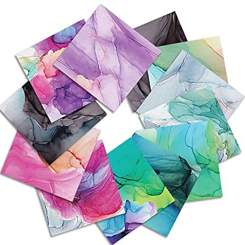 Scrapbook Paper Pad 6×6, Single-Sided Cute Decopodge Paper,Cardstock Paper Scrapbooking Assorted-ColorsPattern Paper Pack Cardmaking Supplies, Vintage Decorative Craft Paper, Envelope maker-24Sheets