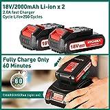Zoom IMG-1 trapano avvitatore batteria 18v hychika