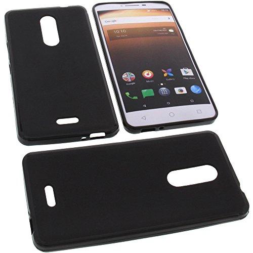 foto-kontor Tasche für Alcatel A3 XL Gummi TPU Schutz Handytasche schwarz