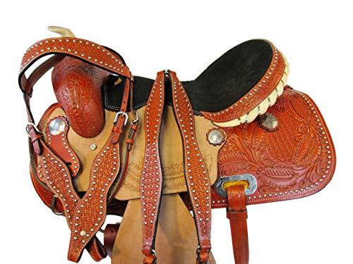 Orlov Hill Leather Co Comfortable DEEP DEAT Barrel Racing Saddle 15 16 Pleasure Show Western Horse TACK Set (15)