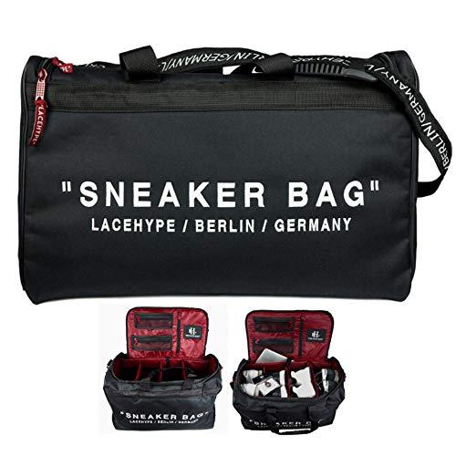 LaceHype Sneaker Bag, Schuhtasche, Fußballtasche, Basketballtasche, Tasche für die Reise, Sporttasche mit Trännwenden, Reisetasche, Unisex (mit Druck)