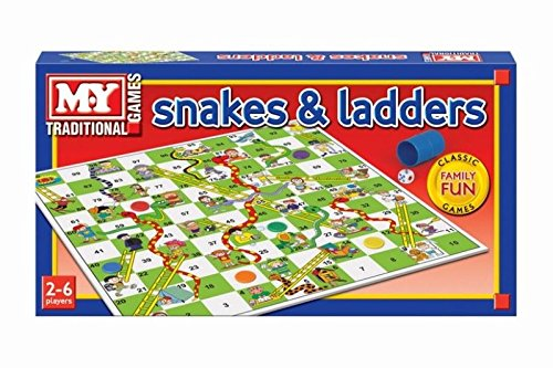 Classic Traditional Retro Snakes and Ladders Game Printed Box Play Family Fun by PinkWebShop