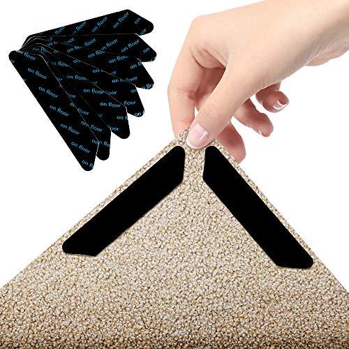 O-Kinee Teppichgreifer Antirutschmatte, Teppich Rutsch Stop, 24 Stück Washable Wiederverwendbar Teppich Aufkleber, Strong Stickiness, Rutschfester Teppichgriff für Hartholzböden, Teppiche und Matten