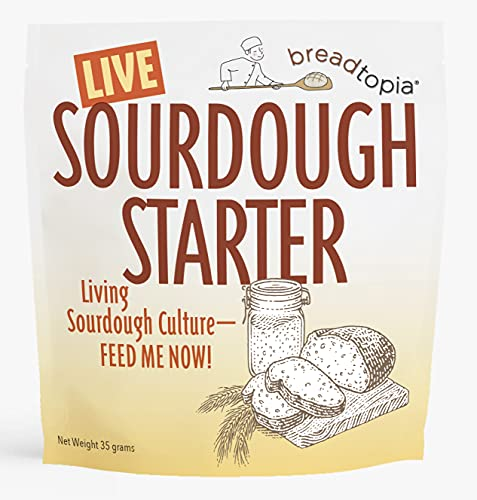 Breadtopia Sourdough Starter (Live) | Made from Organic & Non-GMO Ingredients | Easy to Follow Instructions | Make Homemade Sourdough Bread | Sour Dough Starter Live |