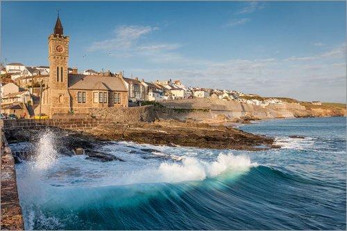 Cuadro de PVC 90 x 60 cm: Stormy Wave in Porthleven, Cornwall (England) de Christian Müringer