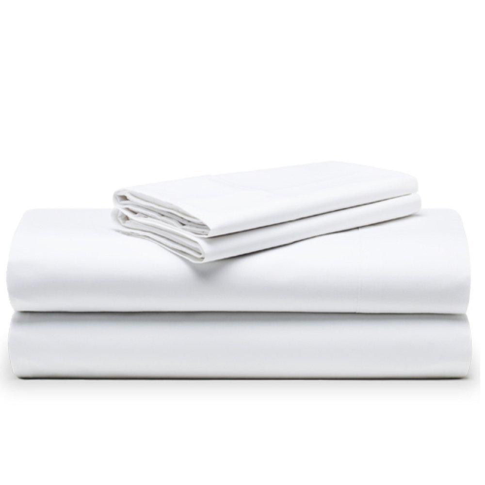 The White Basics - Cadaques - Juego de sabanas Blancas Percal 200 Hilos 100% Algodon Peinado Cama 180x200 cm: Amazon.es: Hogar