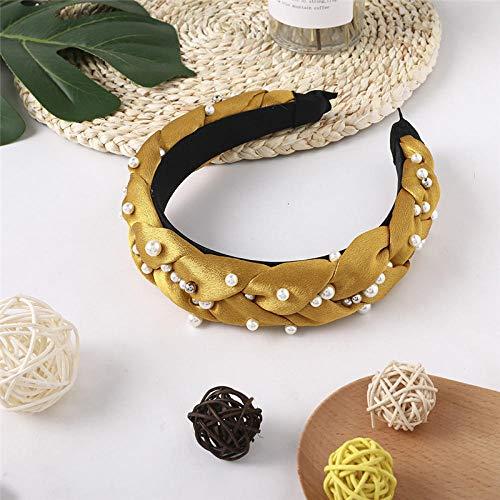 Tony plate Bandeau Femmes Perles Strass Bandeau Large Unique Satin Doux Bande Dot Belle Bowknot Cheveux Accessoires Chapeaux-002