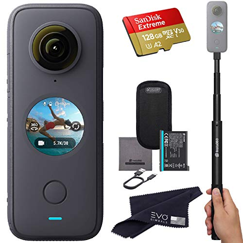Insta360 ONE X2 360 Camera with Touchscreen - 5.7K30 360 Video, Front Steady Cam Mode, 18MP 360 Photo + InstaPano  ...