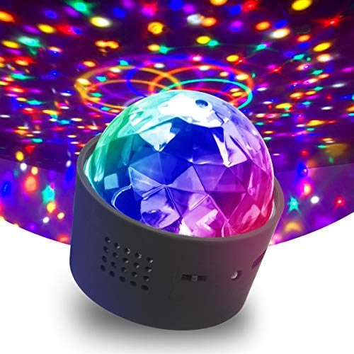 AETKFO Discokugel Mini Disco LED-Strobe-Effekt Nachtlichter 3W LED RGB Sound Control USB Charge Magnet Adsorption Portable Bühnenbeleuchtung Fit für Party Home Car KTV Bar Kinder Geburtstag Party