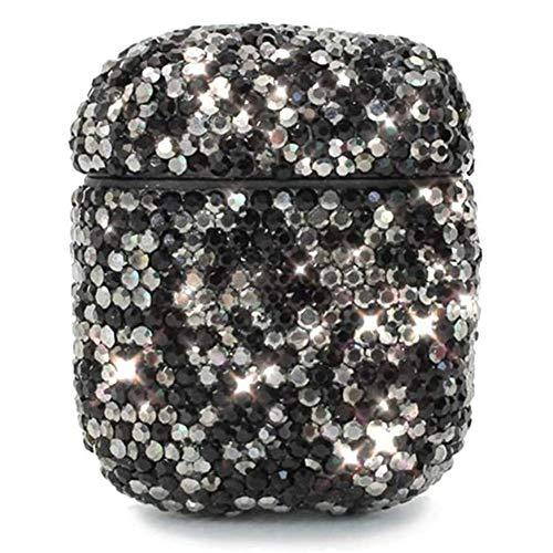 Cestbon Morechioce Compatibel met Airpods 1 hoes, compatibel met Airpods 1 beschermhoes, fashion zilver diamant glitter telefoonhoes siliconen bumper beschermende skin