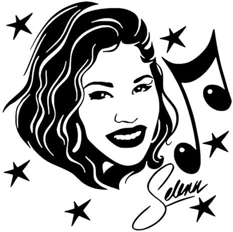 Amazon Com 13cm13cm Selena Quintanilla Singer Actress Music Fashion Car Sticker Black Silver Color Name Black Home Kitchen