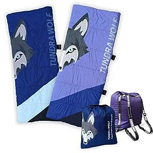 TEAM MAGNUS Saco de Dormir Unisex Tundra Wolf para niños 3