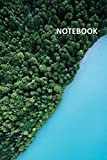 Notebook: Blue lake Beautiful Composition Book Daily Journal Notepad Diary Student for researching...