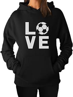 TeeStars - I Love Soccer for Soccer Players/Fans Women Hoodie