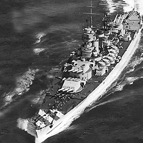 Nave da Guerra assemblato Modello, la Simulazione 1 700 della Marina Militare Italiana Litorio (1941) Modelli Battleship, Collezionismo Littorio 33,9 X 4,7 Centimetri Jzx-n