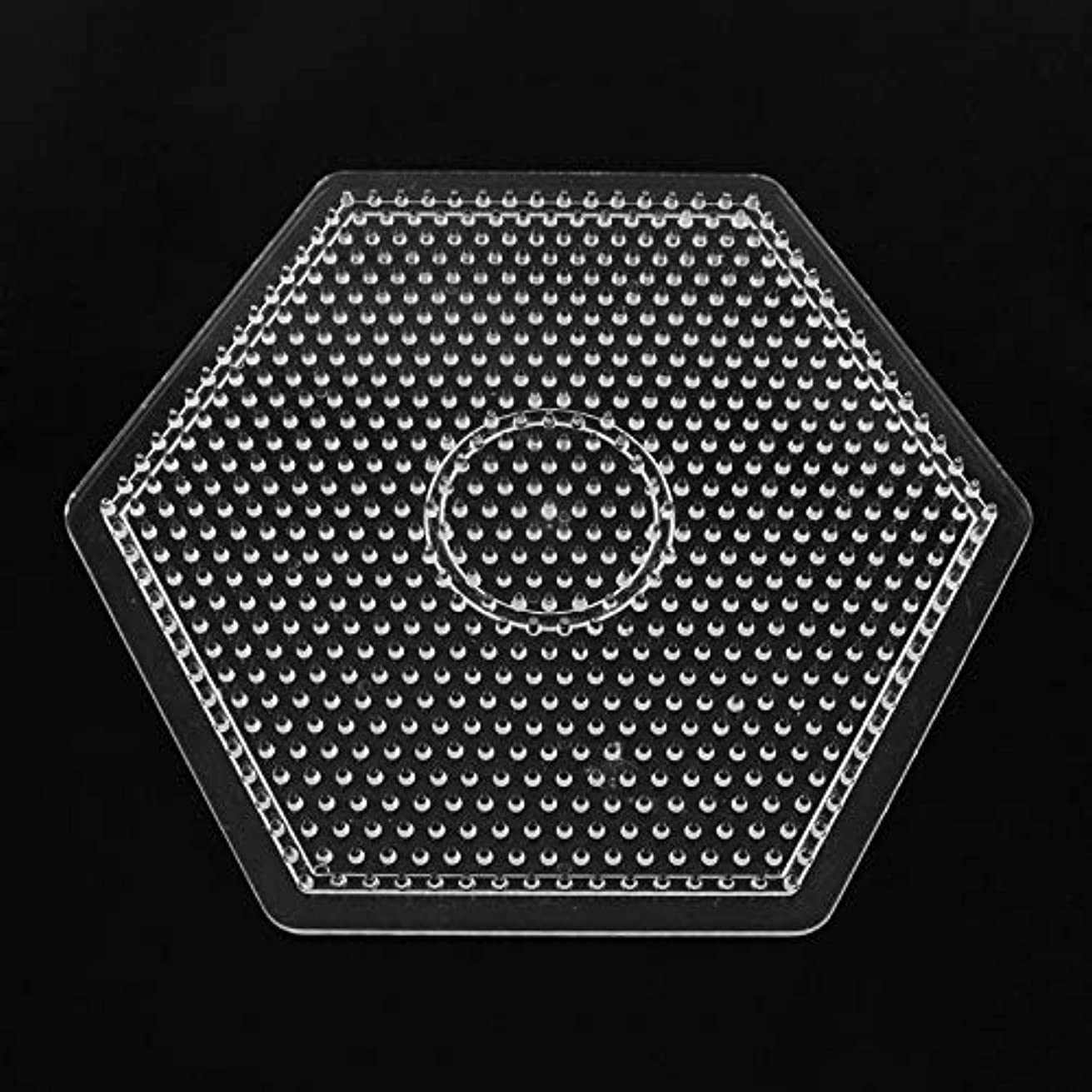 PH PandaHall 10 Pcs 5mm Hexagon Fuse Beads Boards Clear Plastic Perler Bead Pegboards for Kids Craft Beads