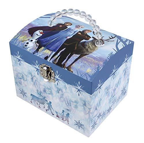 TrouSSELIER – Disney – Frozen 2 – Figura Elsa – Joyero musical en forma de Vanity – Ideal regalo para niñas – Música de la película «Liberée entrega» – Color azul