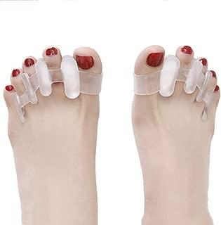 Toe Straightener Big Foot Bone Hallux Valgus Corrector Toe Divider Protector Silica Gel Separator Toe Bending Straightener-For Crooked Toes,Yogis, Dancers, Runners