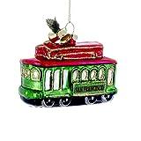 Kurt Adler San Francisco Street Car Glass Christmas Ornament J1320 New