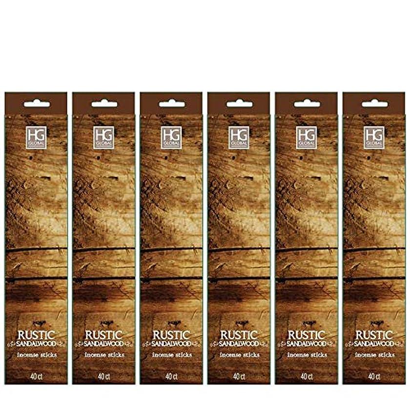 ジャーナル航空機ワイドHosley's 240 Incense Sticks/Approx. 240 gm. RUSTIC SANDALWOOD Highly Fragranced Incense Infused with Essential Oils. Ideal GIFT for Party Favour, Weddings, Spa, Reiki, Meditation, Bathroom Settings