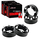 Richeer 4 PCS 2 inch Wheel Spacers 6x5.5 fit for Silverado/Suburban 1500, GMC Sierra 1500, 6x139.7 Wheel Spacers With 14x1.5 Studs&108mm Center Bore for Tahoe, Avalanche, Blazer, Express, K1500, K2500, C2500